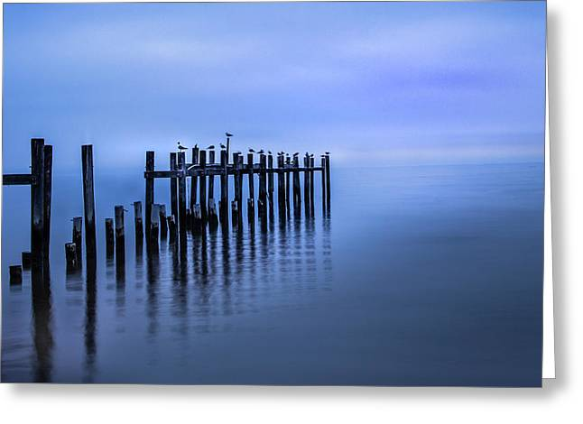 Colorful Overcast At Twilight Greeting Card
