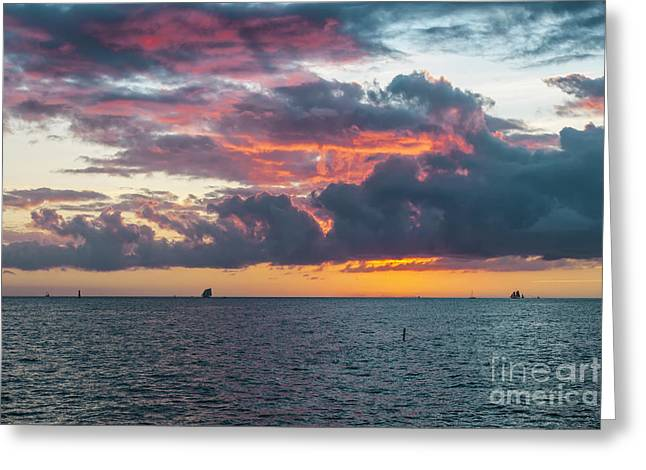 Key West Sunset Greeting Card by Elena Elisseeva