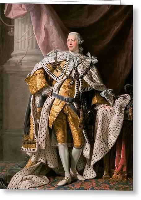 King George IIi In Coronation Robes Greeting Card by Allan Ramsay