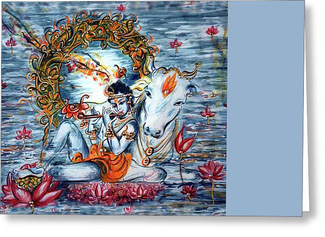 Krishna Greeting Card