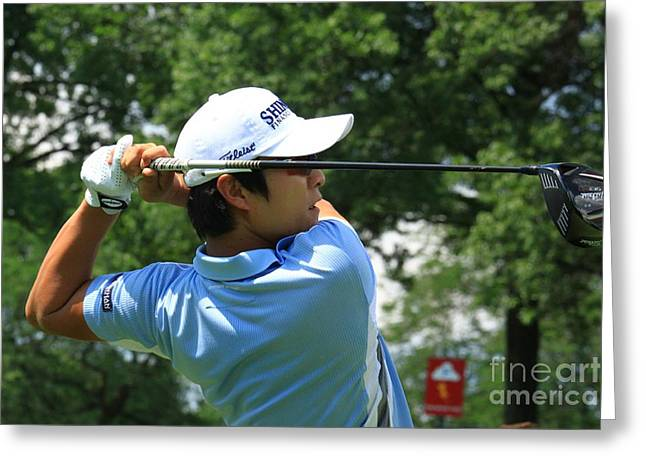 Kt Kim Pga Professional Golfer Greeting Card by Douglas Sacha