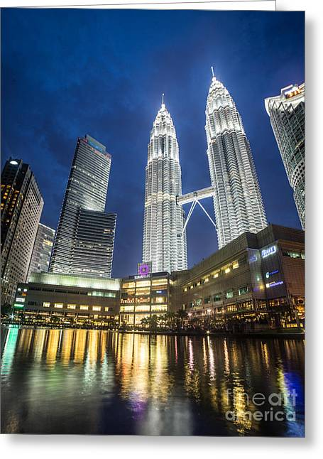 Kuala Lumpur Petronas Towers Greeting Card