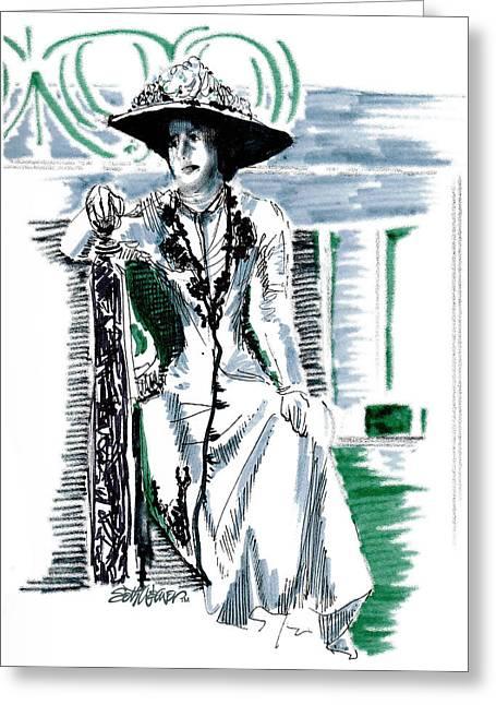 Lady Grantham Greeting Card by Seth Weaver