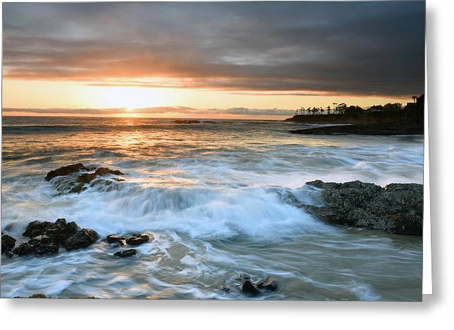 Greeting Card featuring the photograph Laguna Beach Sunset by Dung Ma
