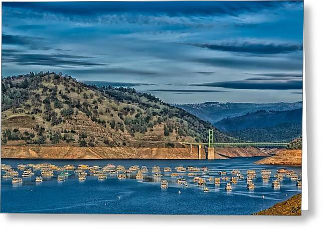 Lake Oroville Yacht Basin Greeting Card by Mountain Dreams