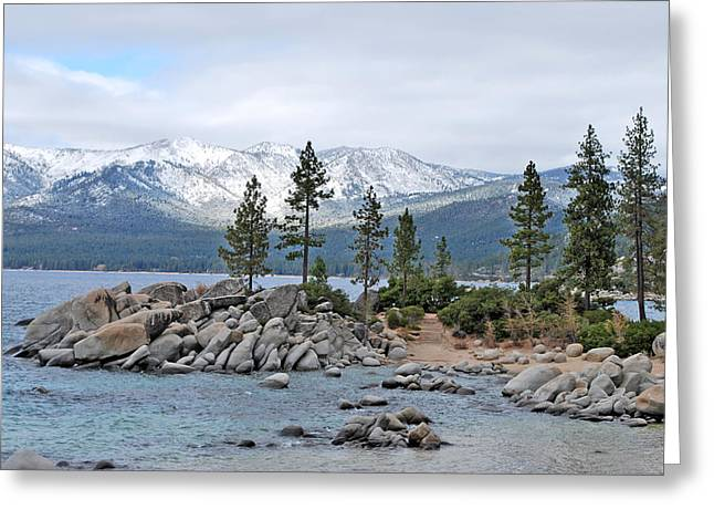 Lake Tahoe Greeting Card by Linda Sramek
