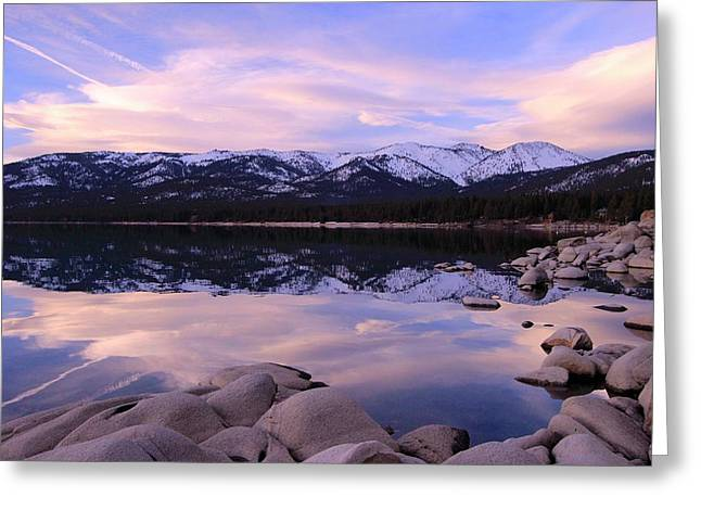 Greeting Card featuring the photograph Lake Tahoe Rocks  by Sean Sarsfield