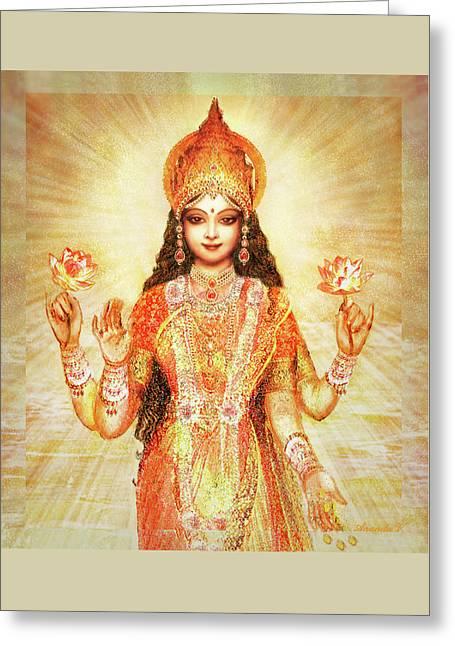 Lakshmi The Goddess Of Fortune And Abundance Greeting Card