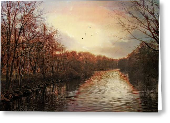 Last Light Greeting Card by Jessica Jenney