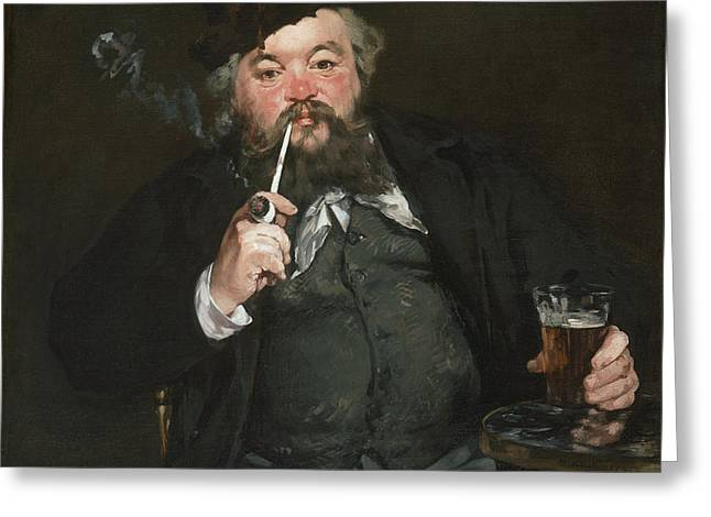 Le Bon Bock Greeting Card by Edouard Manet