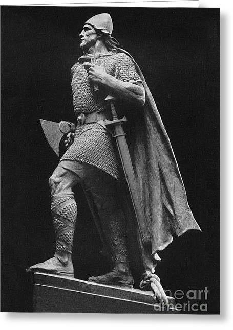 Leif Ericson, Norse Explorer Greeting Card by Photo Researchers