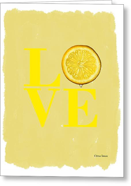Lemon Greeting Card by Mark Rogan