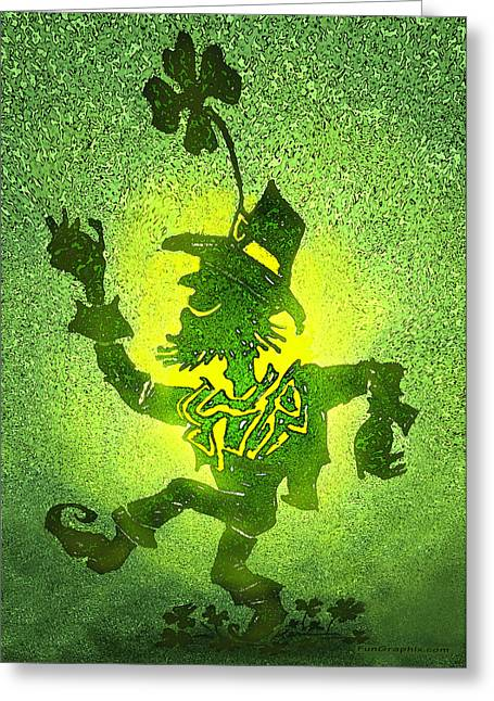 Leprechaun Greeting Card