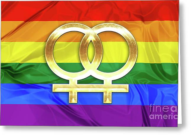 Lesbian Symbols Greeting Card