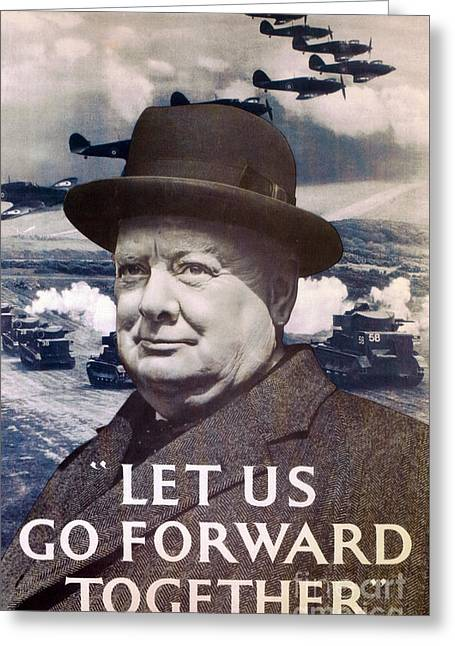 Let Us Go Forward Together Greeting Card by English School