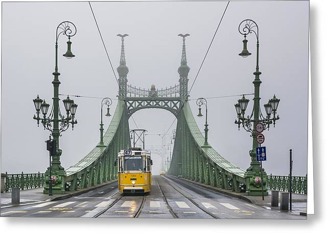 Liberty Bridge Budapest Hungary Greeting Card by Ayhan Altun