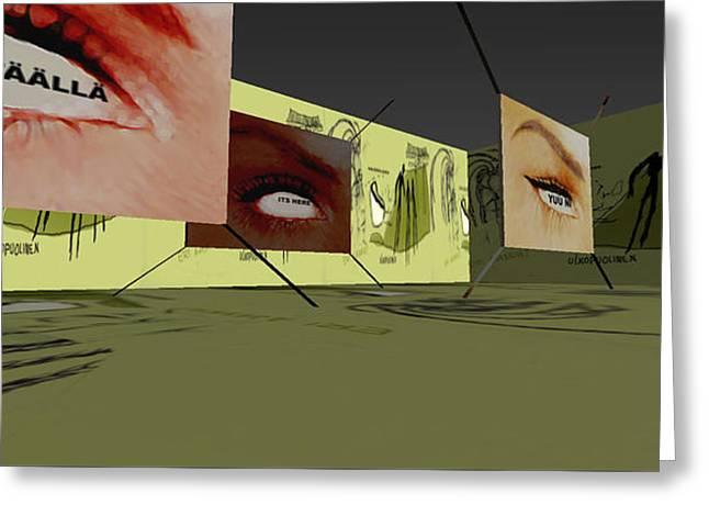 Life Labyrinth 3d Virtual Interactive Media-art 2003  Greeting Card