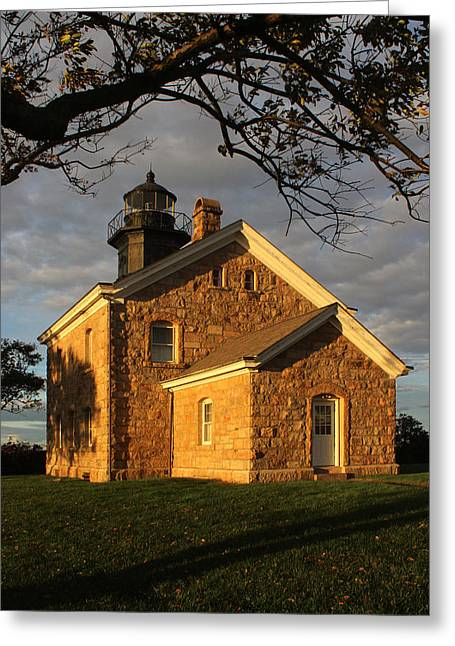 Lighthouse Old Field Point New York Greeting Card