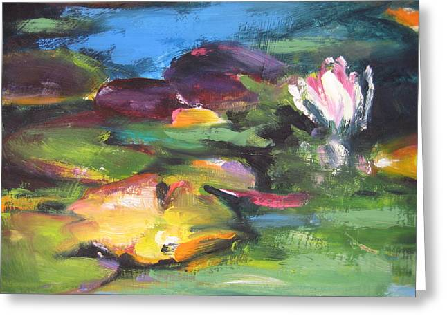 Lily Pond Greeting Card by Susan Jenkins