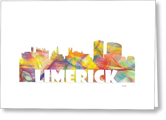 Limerick Ireland Skyline Greeting Card