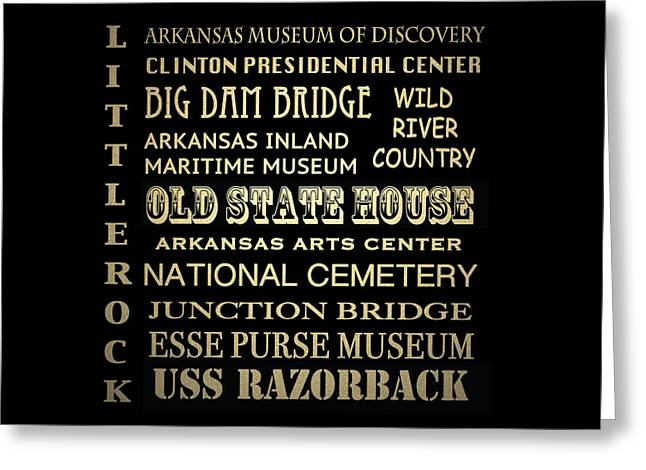 Little Rock Famous Landmarks Greeting Card by Patricia Lintner