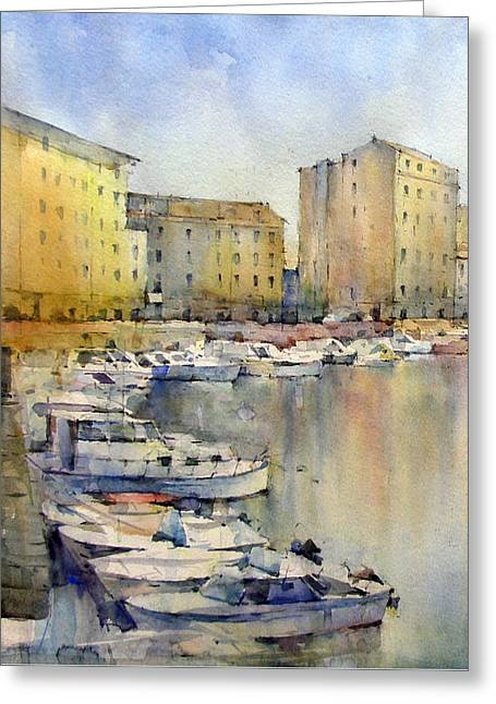 Livorno - Italy Greeting Card by Natalia Eremeyeva Duarte