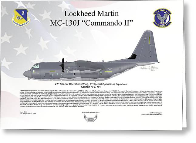 Lockheed Mc-130j Commando II Greeting Card