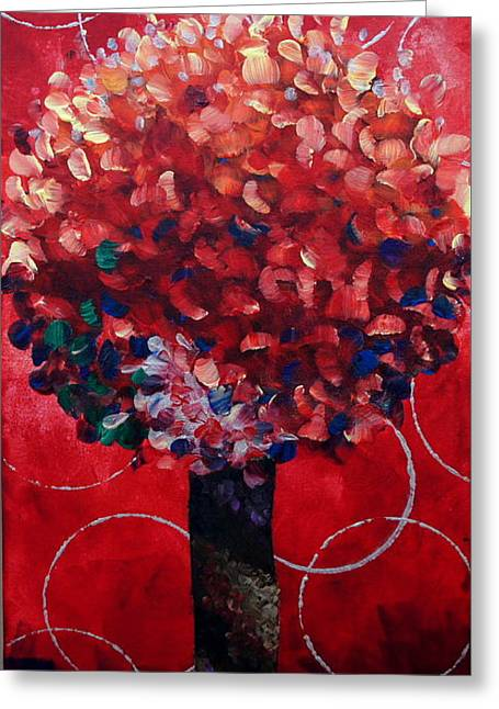 Lollipop Tree Red Greeting Card