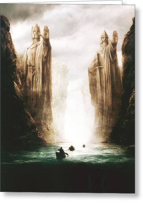 Lord Of The Rings The Fellowship Of The Ring 2001  Greeting Card