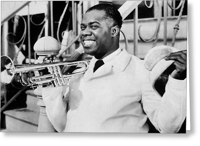 Louis Armstrong Greeting Card by American School