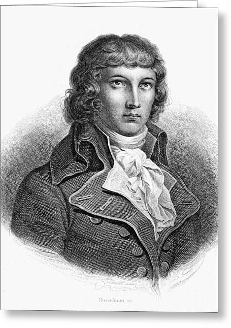 18th Century Greeting Cards - Louis Saint-just (1767-1794) Greeting Card by Granger
