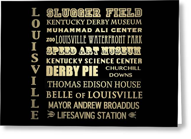 Louisville Famous Landmarks Greeting Card