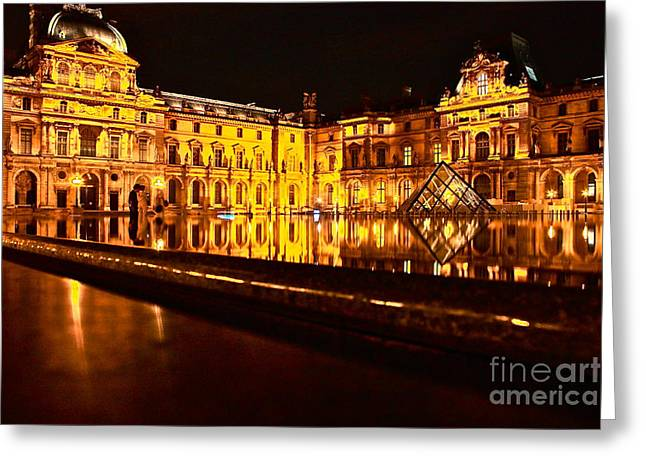 Greeting Card featuring the photograph Louvre Pyramid by Danica Radman