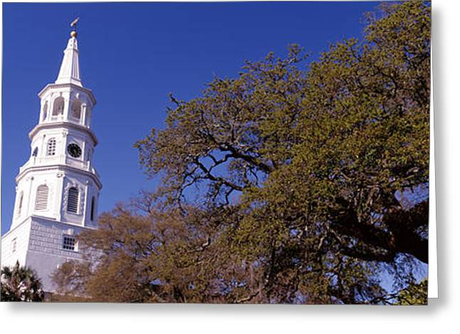Low Angle View Of A Church, St Greeting Card
