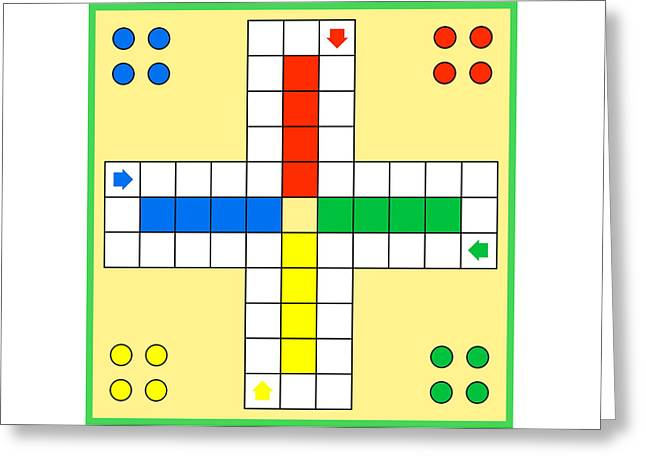 Ludo Board Game Greeting Card