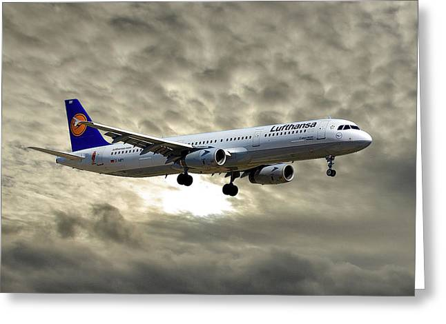 Lufthansa Airbus A321-131 Greeting Card