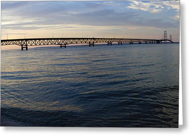 Mackinac Bridge Greeting Card by Tara Lynn