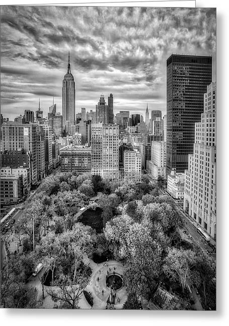 Madison Square Park Aerial View Greeting Card