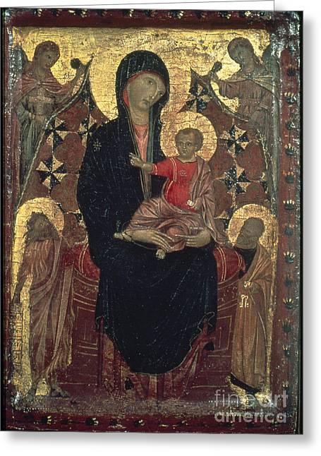 Madonna And Child Greeting Card by Granger