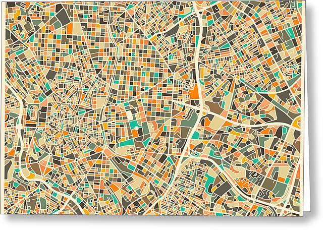 Madrid Map Greeting Card