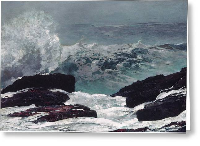 Maine Coast Greeting Card by Winslow Homer