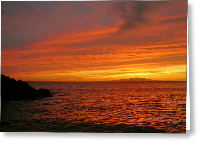 Makena Sunset Greeting Card