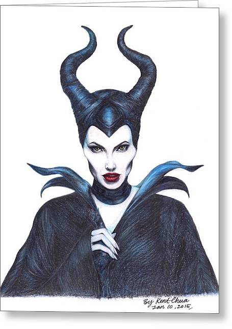 Maleficent  Once Upon A Dream Greeting Card by Kent Chua