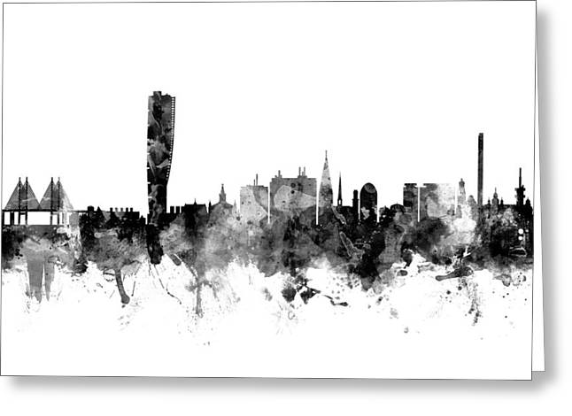 Malmo Sweden Skyline Greeting Card by Michael Tompsett
