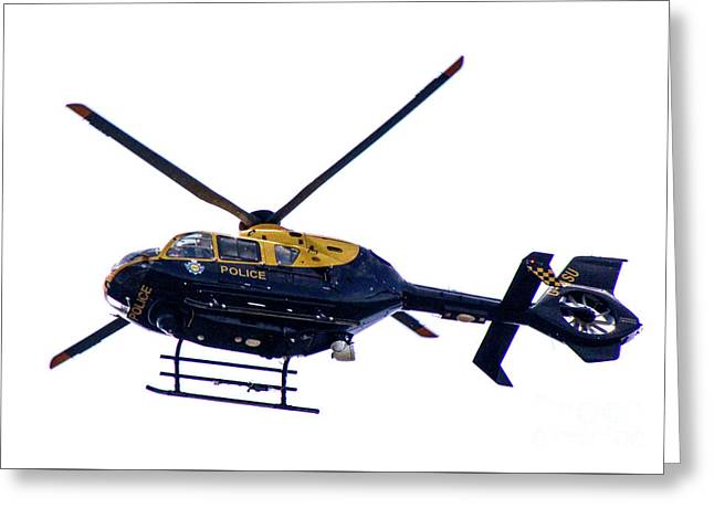 Manchester Police Helicopter - Uk Greeting Card