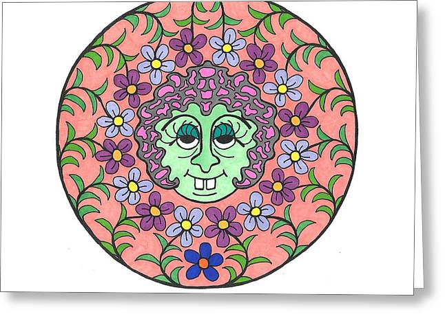 Goofy Green Witch Greeting Card