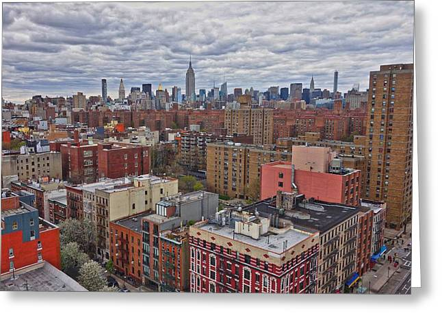 Manhattan Landscape Greeting Card by Joan Reese