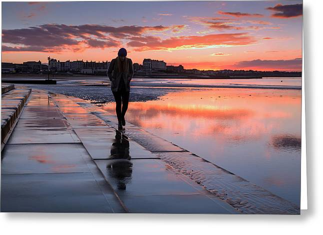 Margate Kings Steps Greeting Card by Ian Hufton
