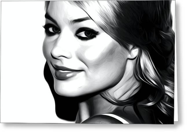 Margot Robbie Greeting Card