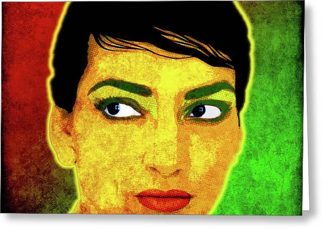 Maria Callas Greeting Card